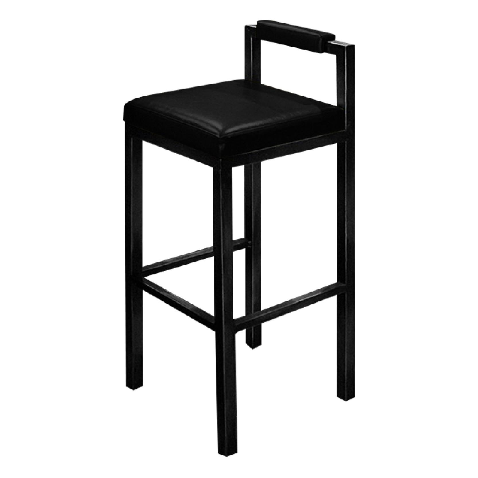 JIJI (ELEPHANT Bar Stool) / High Chair Stool / Designer Stool / Bar Stool / Backrest / Leather / Steel Frame / 6 Month Warranty / (SG)