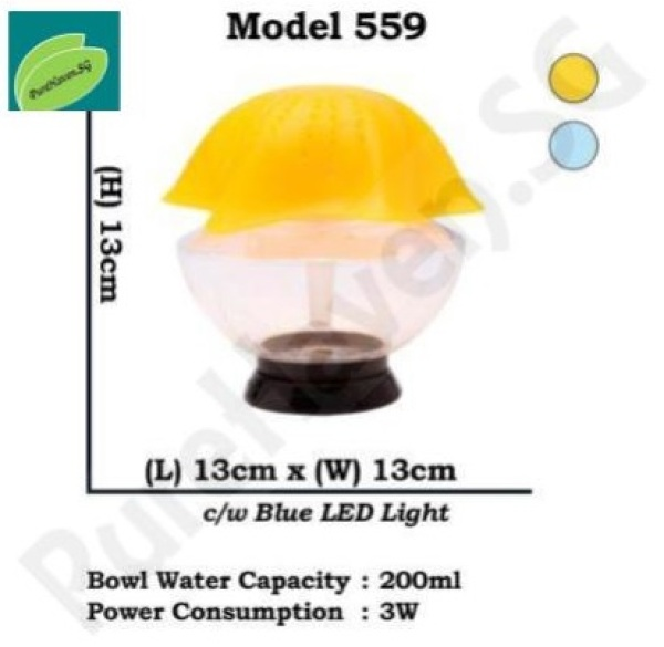 [BNIB] GOOD FOR CAR! Model 559 Mini Water Air Purifier! With Blue LED Lights. Starfish Design! 200ml Singapore