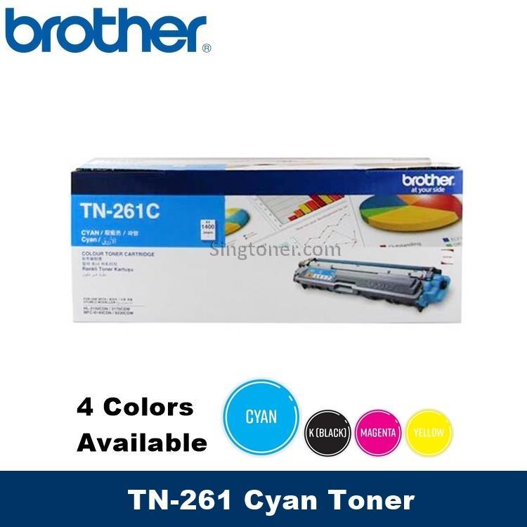 [original] Brother Toner Tn-261 Tn261 Black / Cyan / Magenta / Yellow For Printer Hl-3150cdn / Hl-3170cdw / Mfc-9140cdn / Mfc-9330cdw Tn261bk Tn261c Tn261m Tn261y Tn-261bk Tn-261c Tn-261m Tn-261y Tn261 Bk Tn261 C Tn261 M Tn261 Y By Singtoner.
