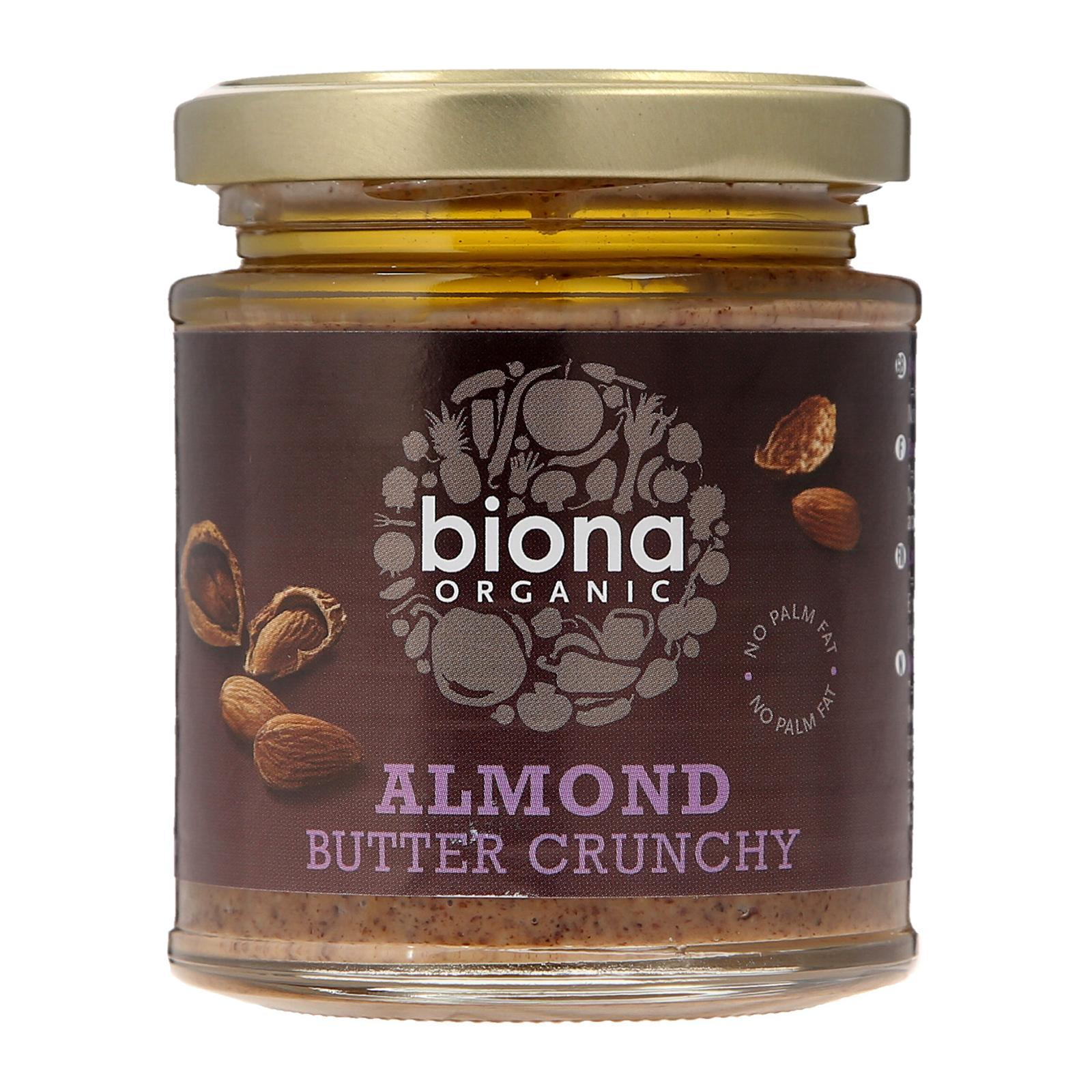 Biona Organic Almond Butter - Crunchy - By Wholesome Harvest