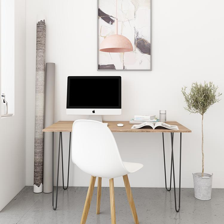 MYSEAT.sg HARPER Hand Crafted Solid Wood Study Table