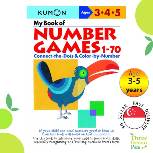 Kumon Math Skills Workbooks - My Book of Number Games 1-70