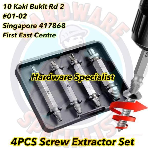 Hardware Specialist 4 Pieces Screw Extractor