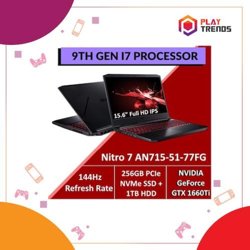 Acer Nitro 7 AN715-51-77FG Gaming Laptop with 9th Gen Intel Core™ i7-9750H processor and GTX 1660TI by PlayTrends