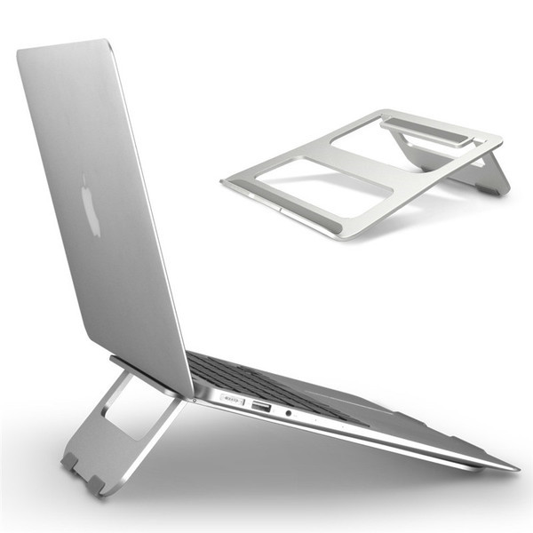 [SG] Ergonomic Design Aluminum Alloy Laptop Stand Desk Dock Holder Bracket Cooler Cooling Pad Foldable for MacBook Pro/Air/iPad/Phone/Acer/Lenovo/HP aluminium stand