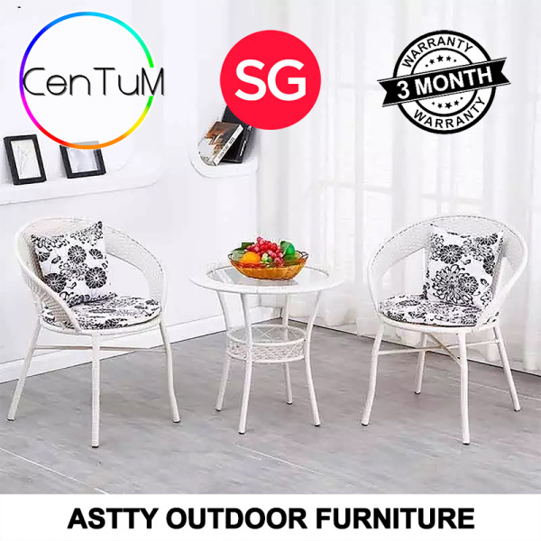 ASTTY Rattan Coffee Table Outdoor Balcony Furniture Home Office Small Meeting Indoor Waterproof Wicker Cane Material [Immediate Delivery]