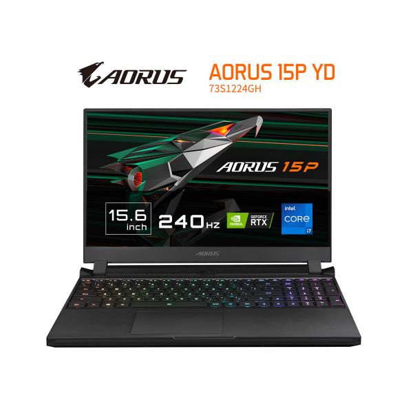 GIGABYTE AORUS 15P YD (Gen11th i7 2.3GHz/2x8GB DDR4 3200/RTX 3080 8GB GDDR6/1TB NVMe PC/15.6 FHD IPS/WIN10 HOME)