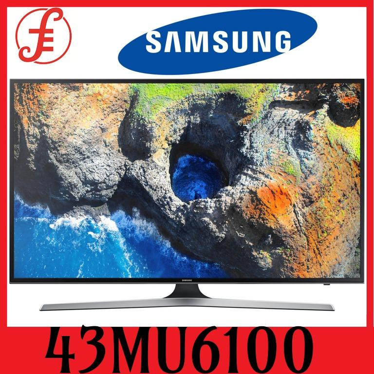 Samsung 43mu6100 43 Mu6100 Series Uhd 4k Smart Tv Digital Tv (ua43mu6100akxxs) By Fepl.