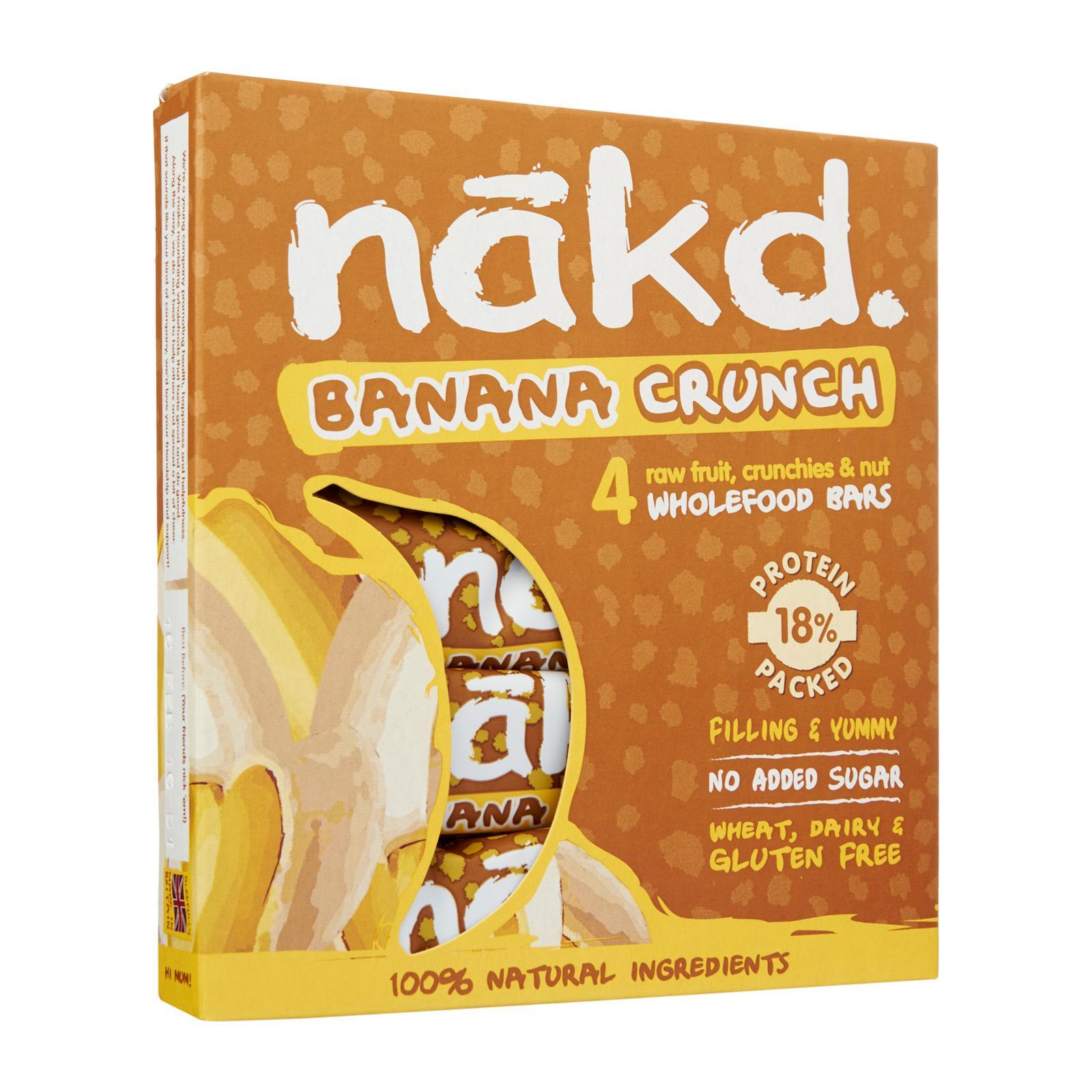 Nakd Gluten Free Banana Crunch Raw Fruit Crunchies And Nut Wholefood Bars By Redmart.
