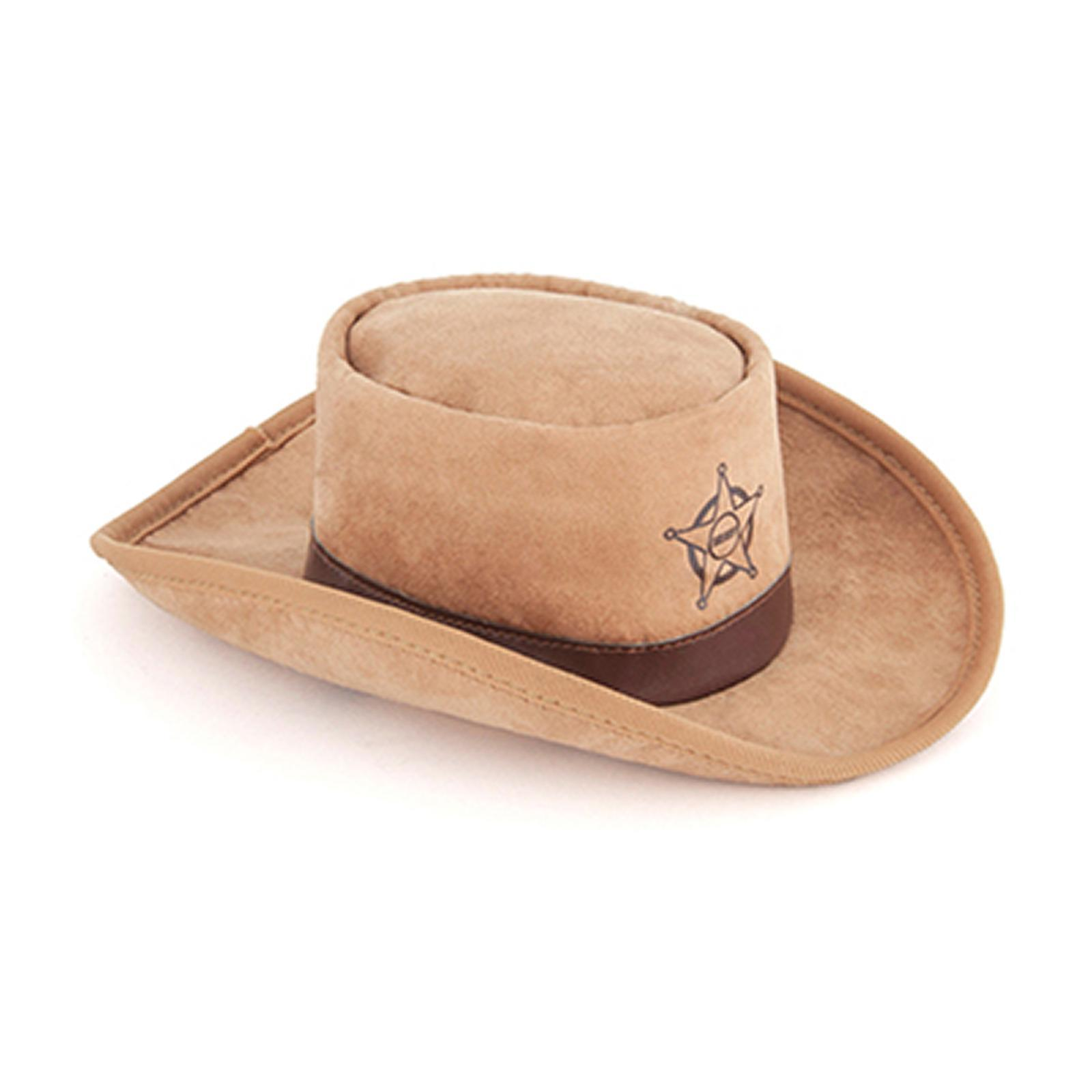 Ginger and Bear Dog Toy - Mutt Hatters : Sheriff Hat Toy