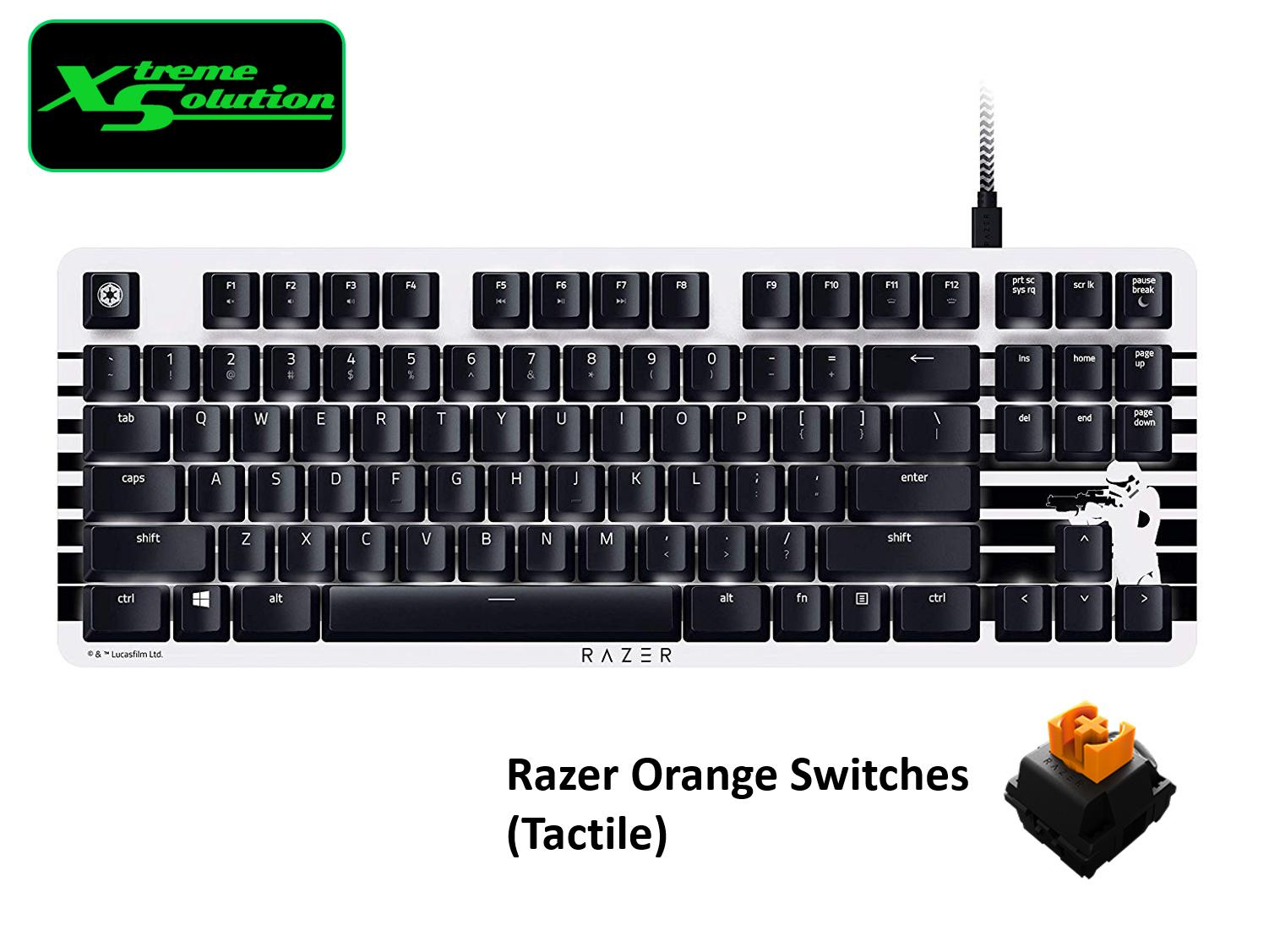 Razer Blackwidow Lite Silent Mechanical Keyboard (StormTrooper Edition) Singapore