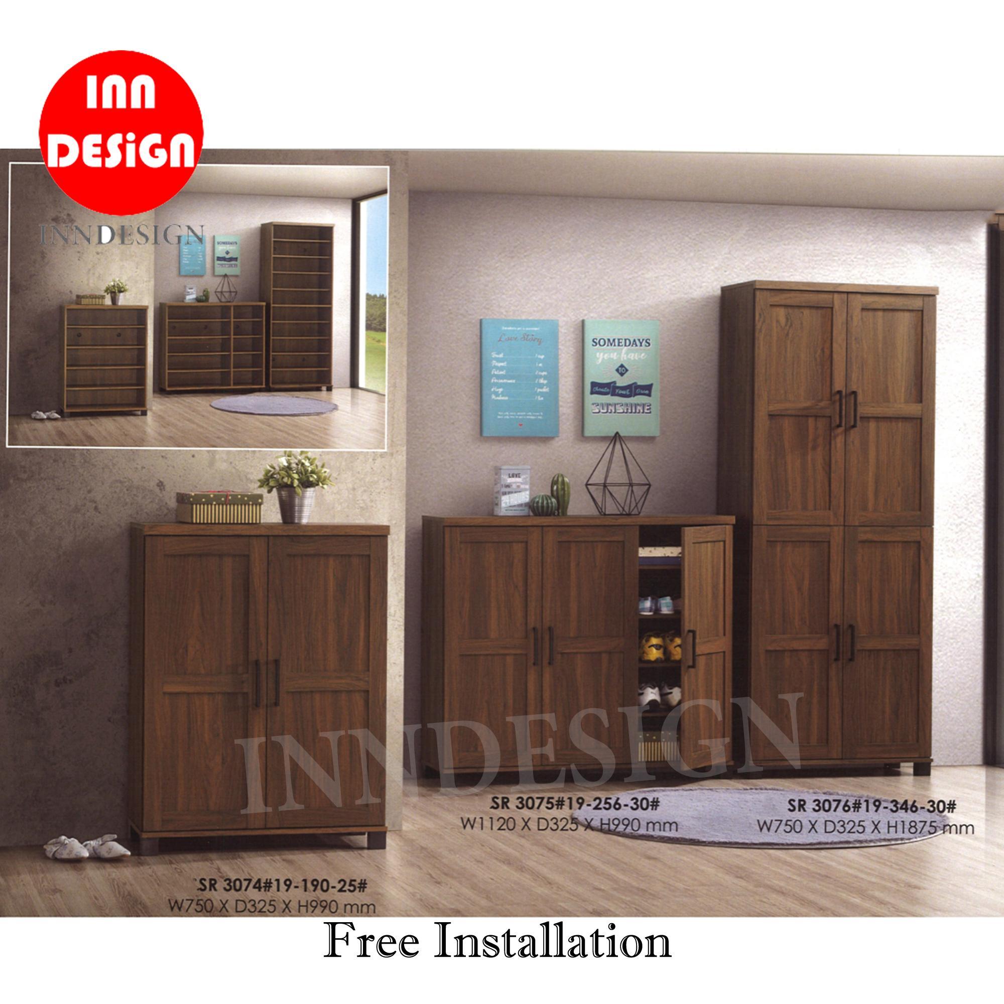 Miko 2/3/4 Doors Shoe Cabinet (Free Installation) (2019 New Design)