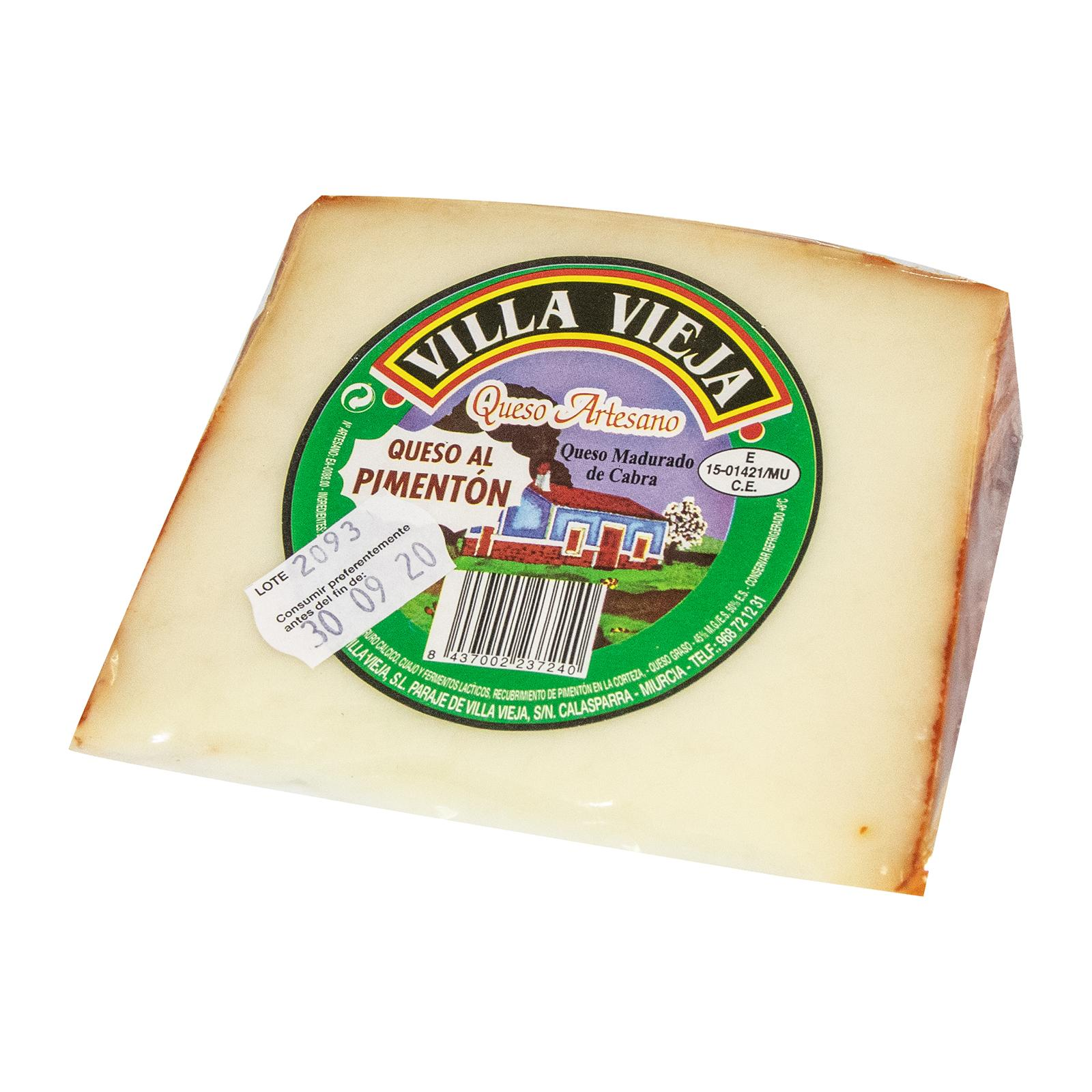 Bonvallis Spanish Cheese Villa Vieja Queso al Pimenton - Goat Cheese with Paprika