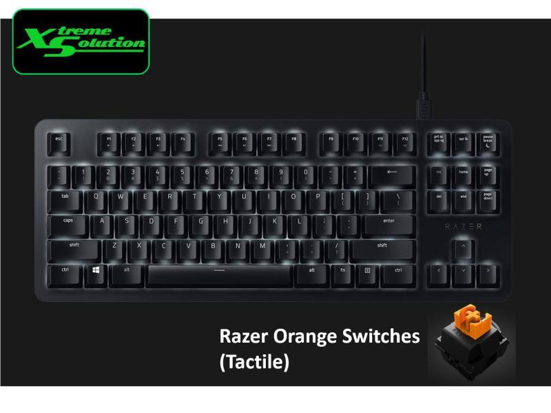 Razer Blackwidow Lite Silent Mechanical Keyboard (Black / Mercury) Singapore