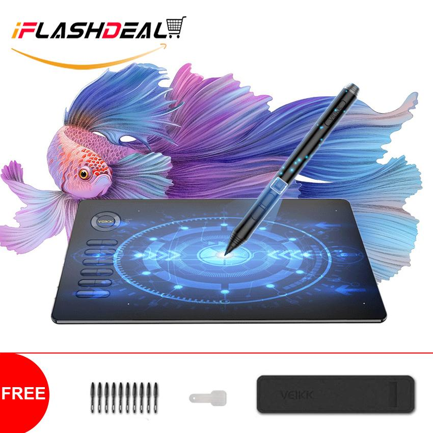 iFlashDeal Graphic Drawing Tablet Ultrathin Pad Digital Battery-Free Passive Pen Animation Art Board 8192 Pressure Sensitivity No-charging Stylus Pen for Windows/OS/Mac