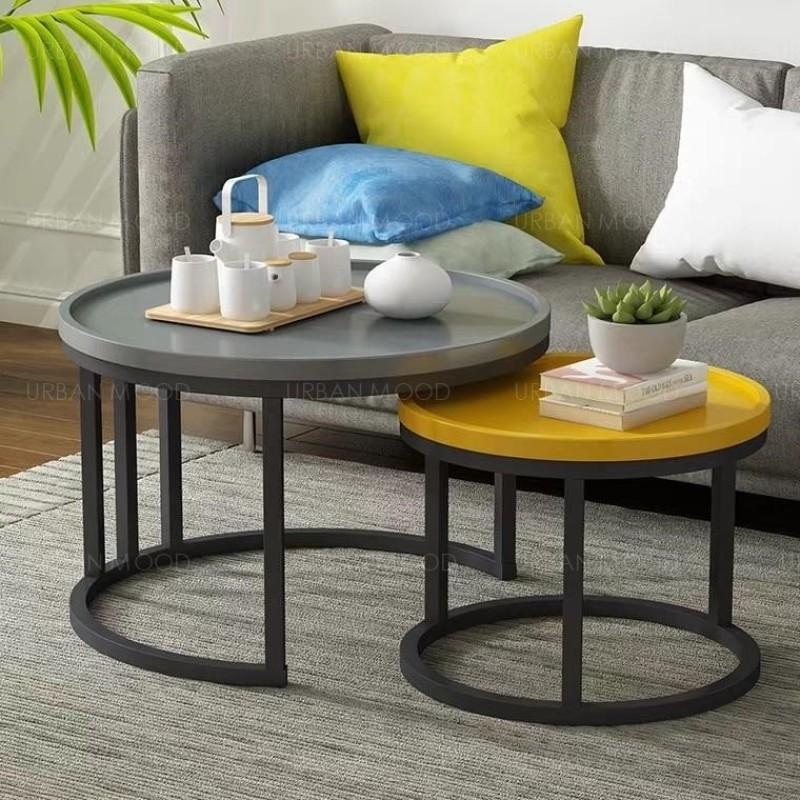CADEE Colour Pop Round Coffee Table