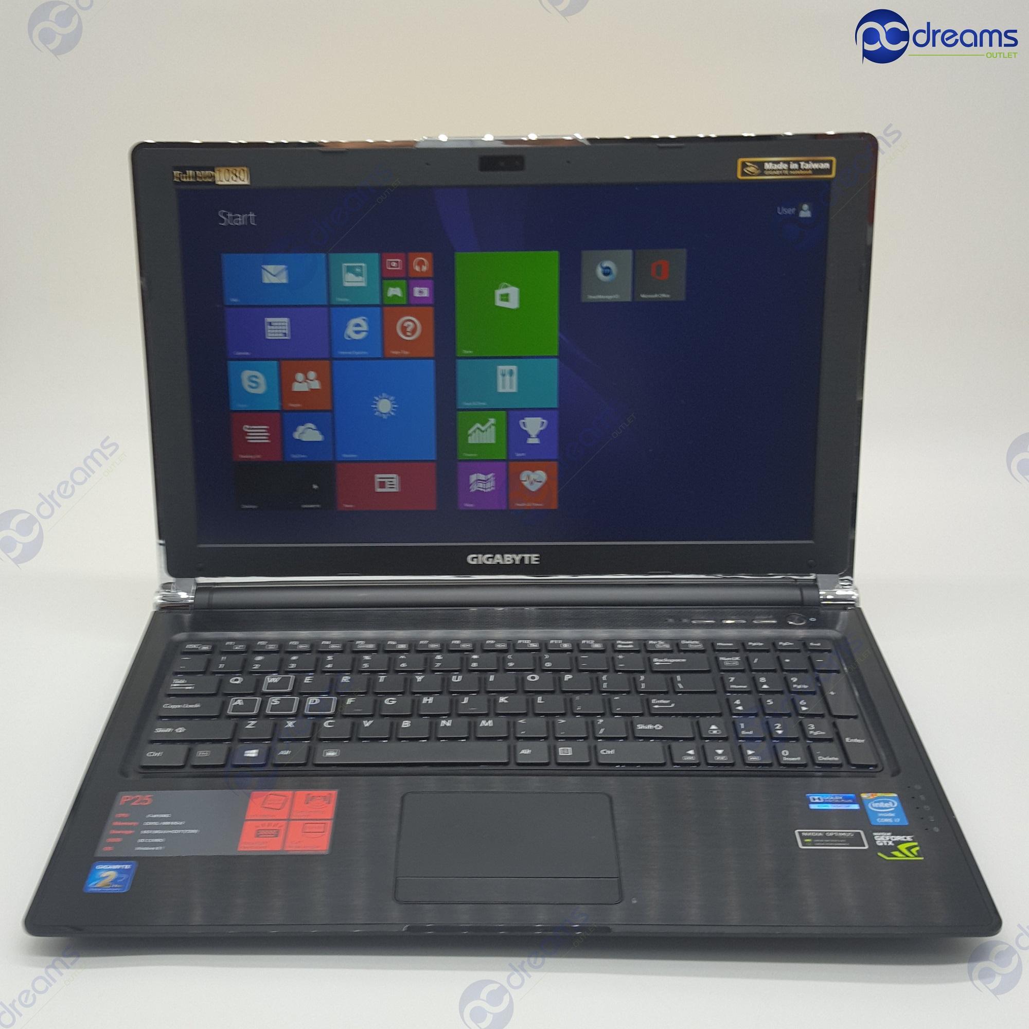 NEW YEAR PROMOTION! GIGABYTE P25X v2 i7-4810MQ/16GB/256GB SSD+1TB HDD/GTX880M [Premium Refreshed]