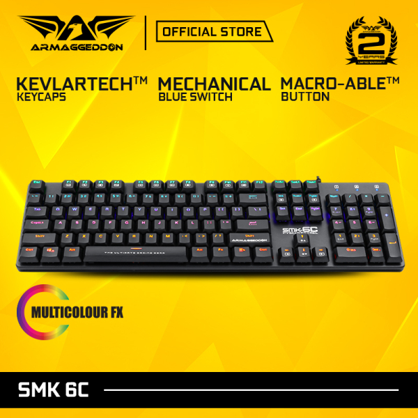 Armaggedddon SMK-6C Psychkestrel Blue Switch Mechanical Gaming Keyboard Singapore