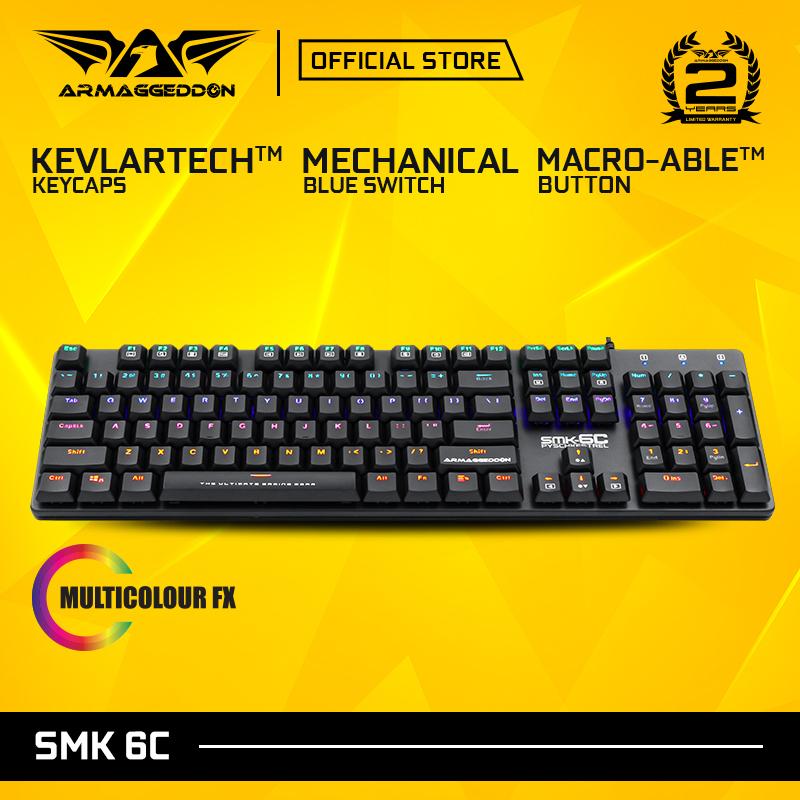 Armaggedddon SMK-6C Psychkestrel Blue Switch Mechanical Gaming Keyboard Singapore