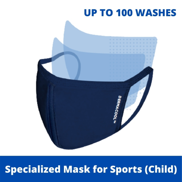 Buy Dermacool Reusable 3-Ply Sports Mask (Child) ( S size) [Aurigamart Authorized Distributor] Singapore