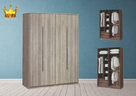 4 Door Wardrobe with Top ★ Storage★Cabinet ★Cupboard★Home Organizer★Furniture★★Rack★Modern Wardrobe