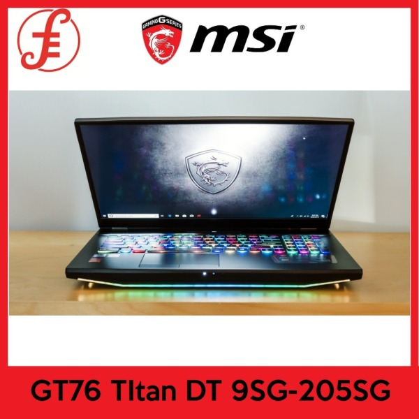 MSI GT76 TItan DT 9SG-205SG (I7-9700K / NVIDIA RTX2080 GDDR6 8GB / 32GB / 1TB SSD+1TB HDD) 17.3UHD 4K Thin Bezel Adobe 100% (2Y)