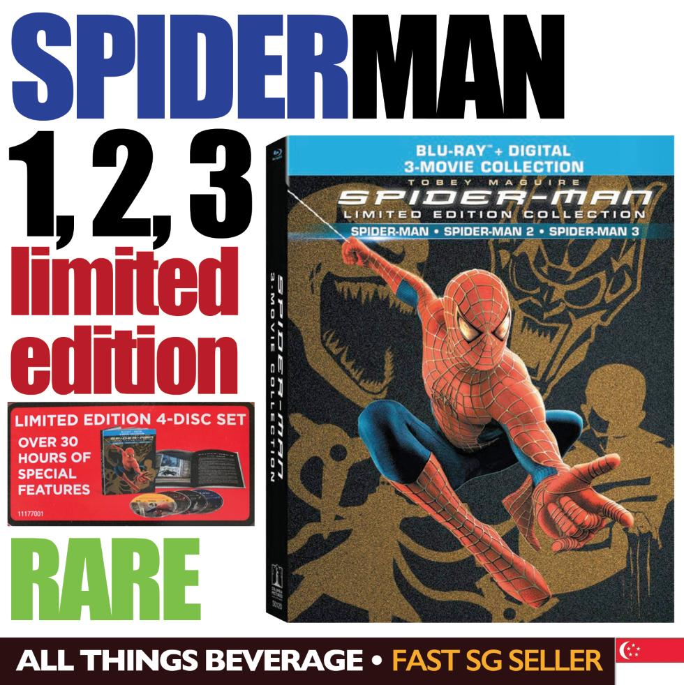 Spider-Man Trilogy Collection Blu-Ray Limied Edition Spider-Man Spider-Man 2 Spider-Man 3 Blu-Ray By All Things Beverage