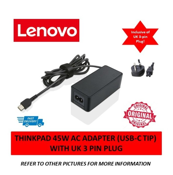 Lenovo Thinkpad 45W AC Power Adapter (Type C USB tip) Laptop Charger