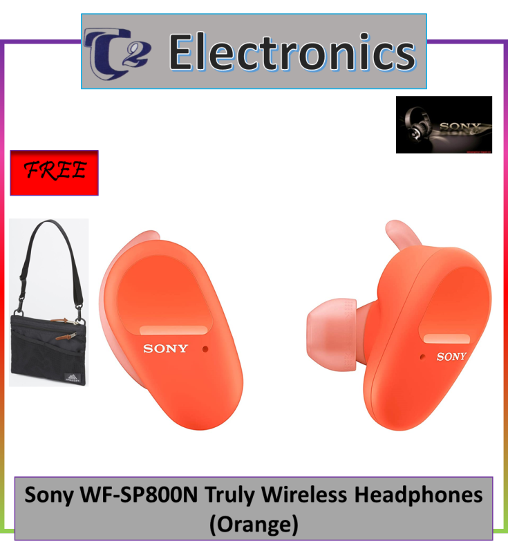 Sony WF-SP800N Truly Wireless Noise Cancelling Headphones for Sports (FREE BAG) - T2 electronics) Singapore
