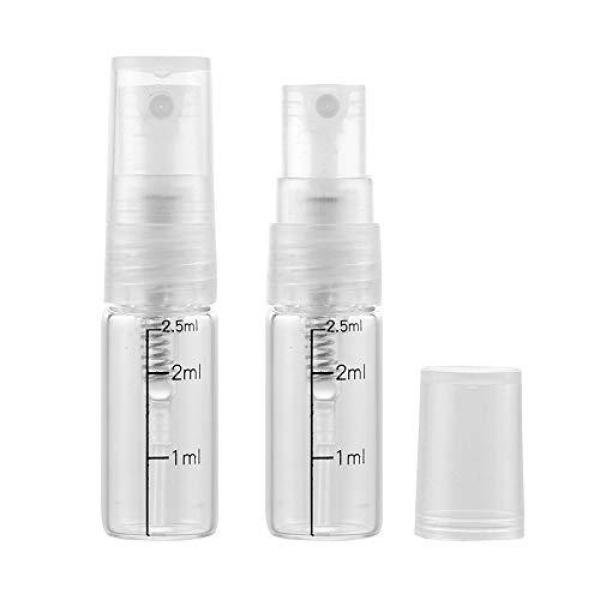 Buy Pinklife 10 Pcs Clear Glass Spray Bottles with Scale,Travel Size Fragrance Perfume Aromatherapy Oil Containers,Empty Glass Samples Vials Bottles (2.5ml) Singapore