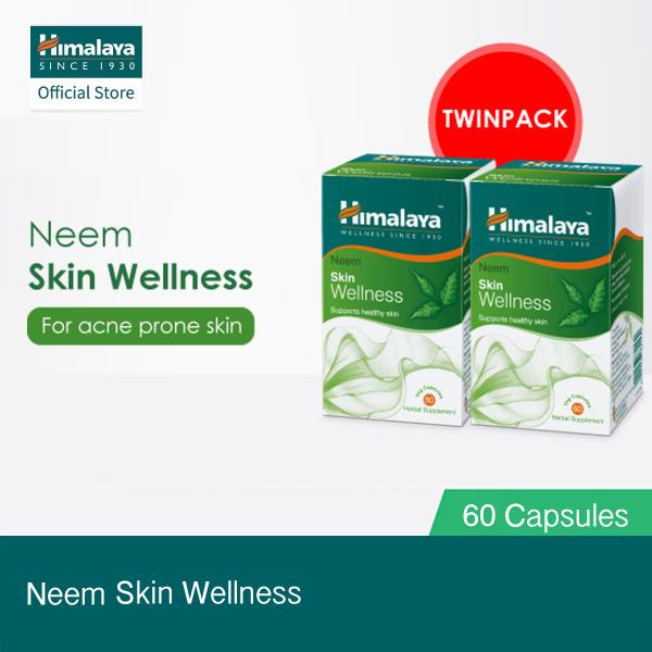 Buy [Himalaya] Neem Skin Wellness Bundle of 2 (60 Capsules x 2) - For Acne Singapore