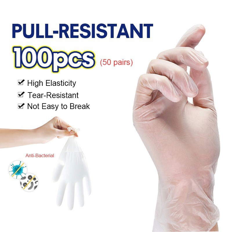 100pcs Disposable Latex Gloves Food Grade Pvc Darling Silicone Doctor Disinfection Medical Special Surgical.