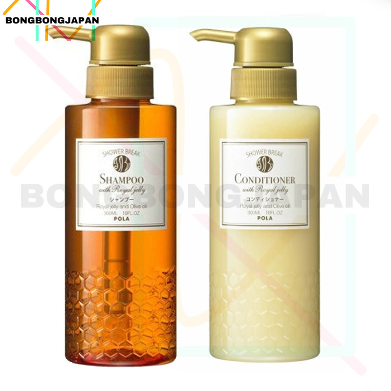 Buy JAPAN Pola Shower Break Silicone-Free Shampoo 300ml + conditioner 300ml With Royal Jelly (Original Bottle) Singapore