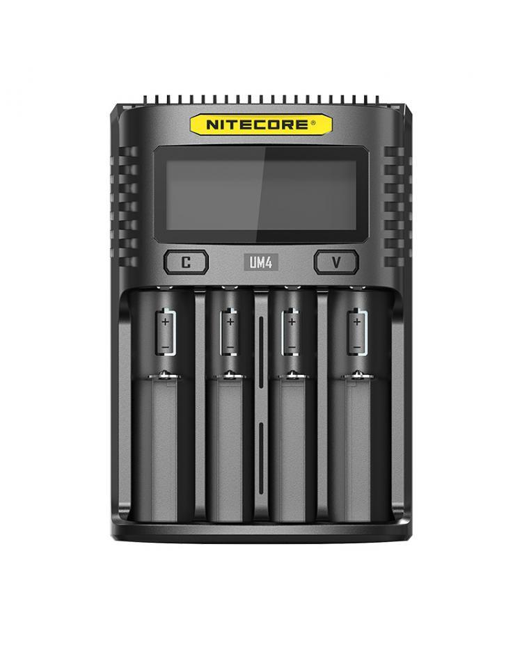 Nitecore UM4 Four Slot Intelligent USB Battery Charger for AA, AAA, AAAA, C, D, IMR 18650, 22650, 26650