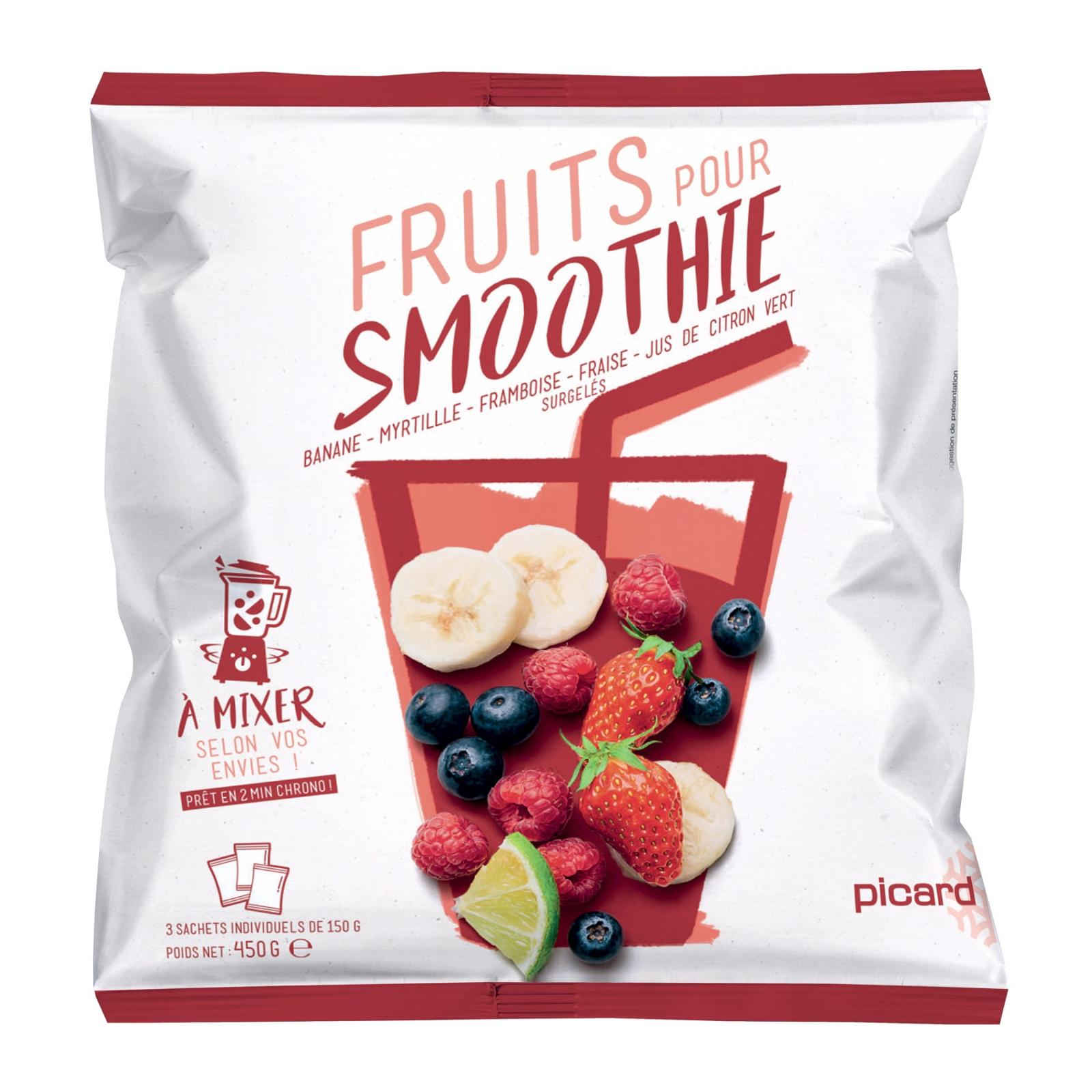 Picard Fruit Mix for Smoothies (Banana Bilberry Raspberry Strawberry) - Frozen