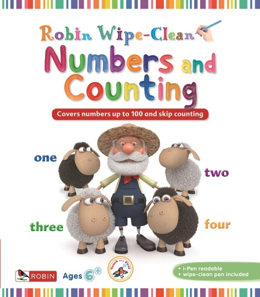 Robin Wipe-Clean: Numbers and Counting / English Toddler Books / Activity Books (9781912822508)