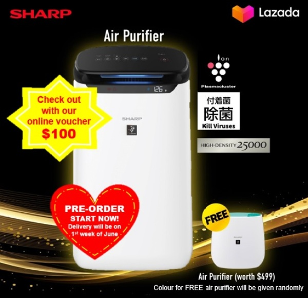 Sharp Air Purifier FP-J60E-W *PRE-ORDER start NOW, Delivery in early JUNE* Singapore