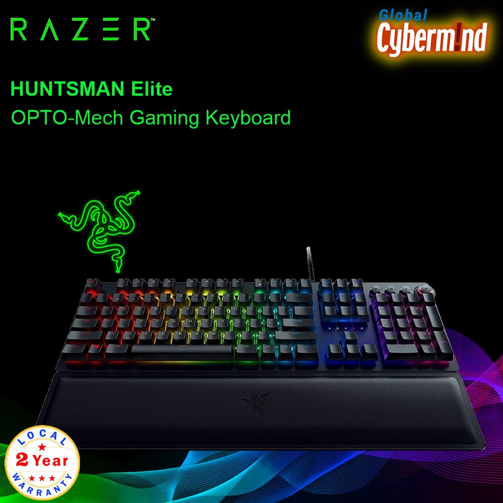 RAZER Huntsman Elite - RZ03-01870100-R3M1 OPTO-Mech Gaming Keyboard ( Brought to you by Cybermind ) Singapore