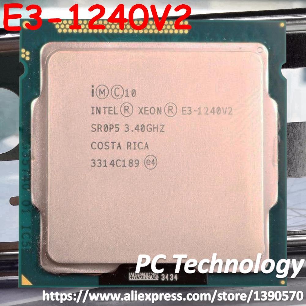 Original Intel Xeon Processor E3-1240 v2 8M Cache 3 40 GHz SR0P5 LGA1155 E3  1240 v2 CPU E3 1240 V2 E3-1240V2 (Version: Used)