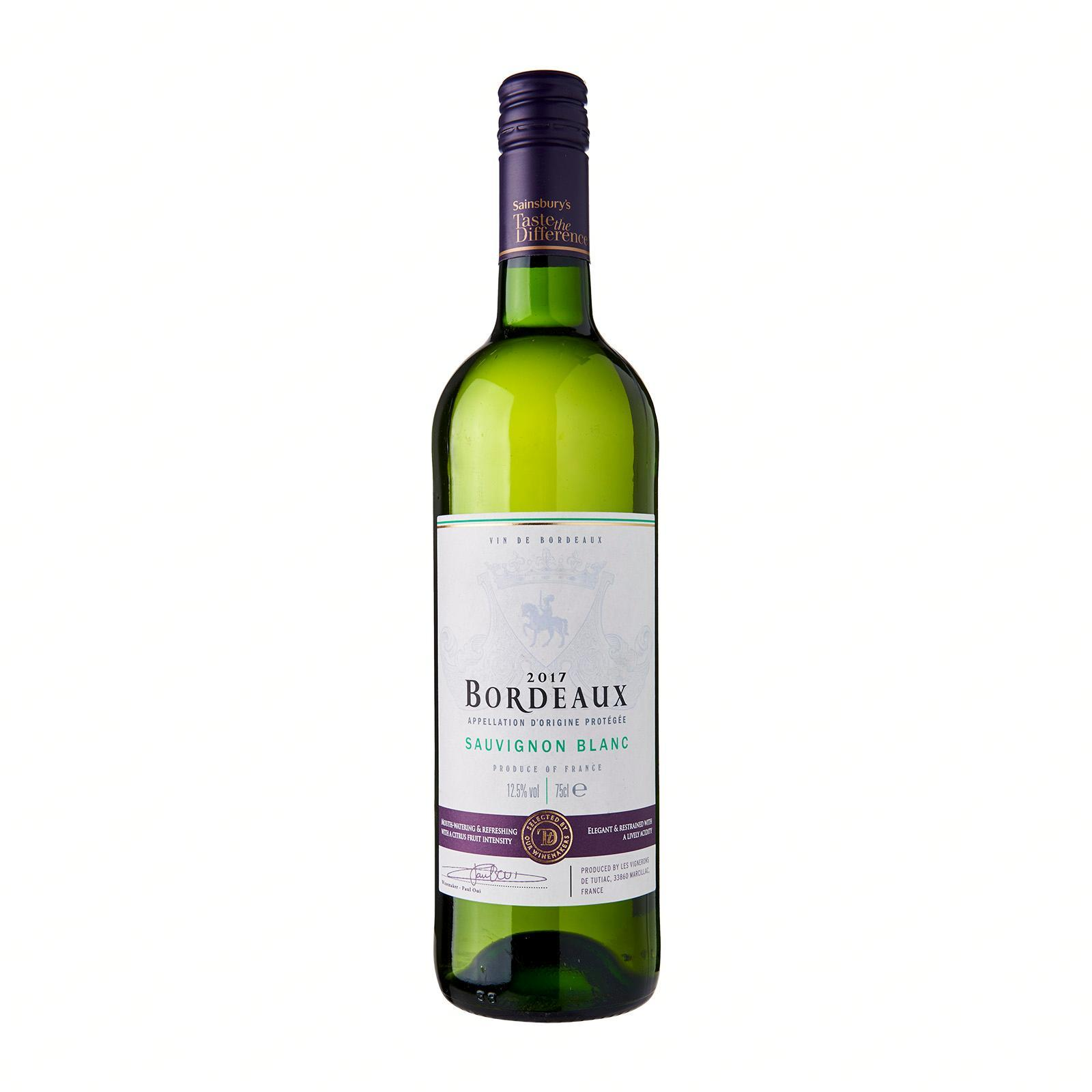 Sainsbury's Taste The Difference Bordeaux Sauvignon Blanc White Wine