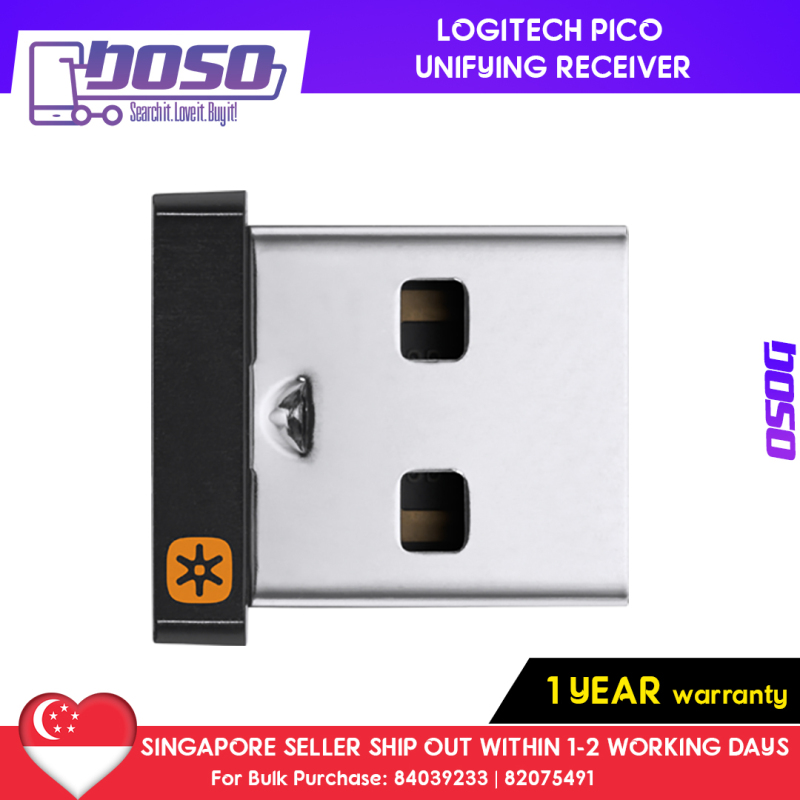 [Ready Stock] Logitech Pico Unifying Receiver (1 Year Warranty) | Unifying Receiver | USB Unifying Receiver | Logitech USB Unifying Receiver | Unifying Receiver Logitech | USB Receiver Singapore