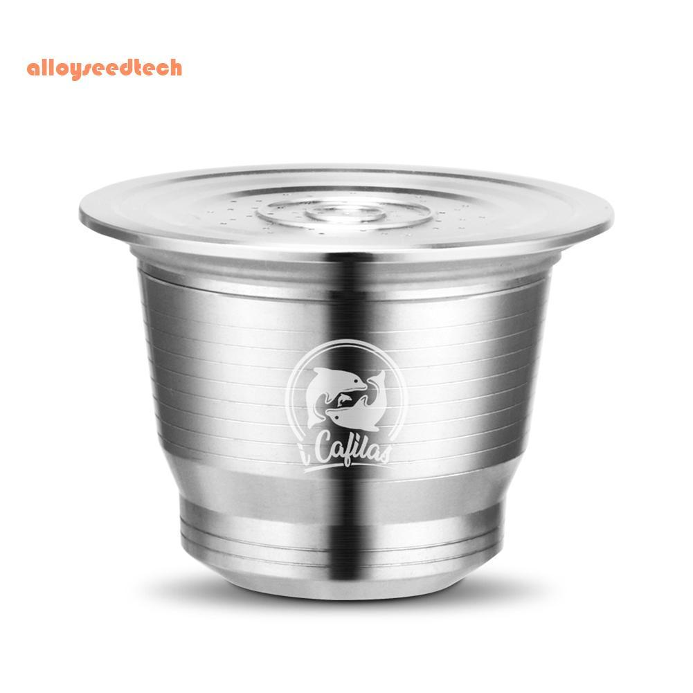 〔alloyseedtech〕Reusable Stainless Steel Coffee Capsule Cup Nespresso Coffee Filter Set