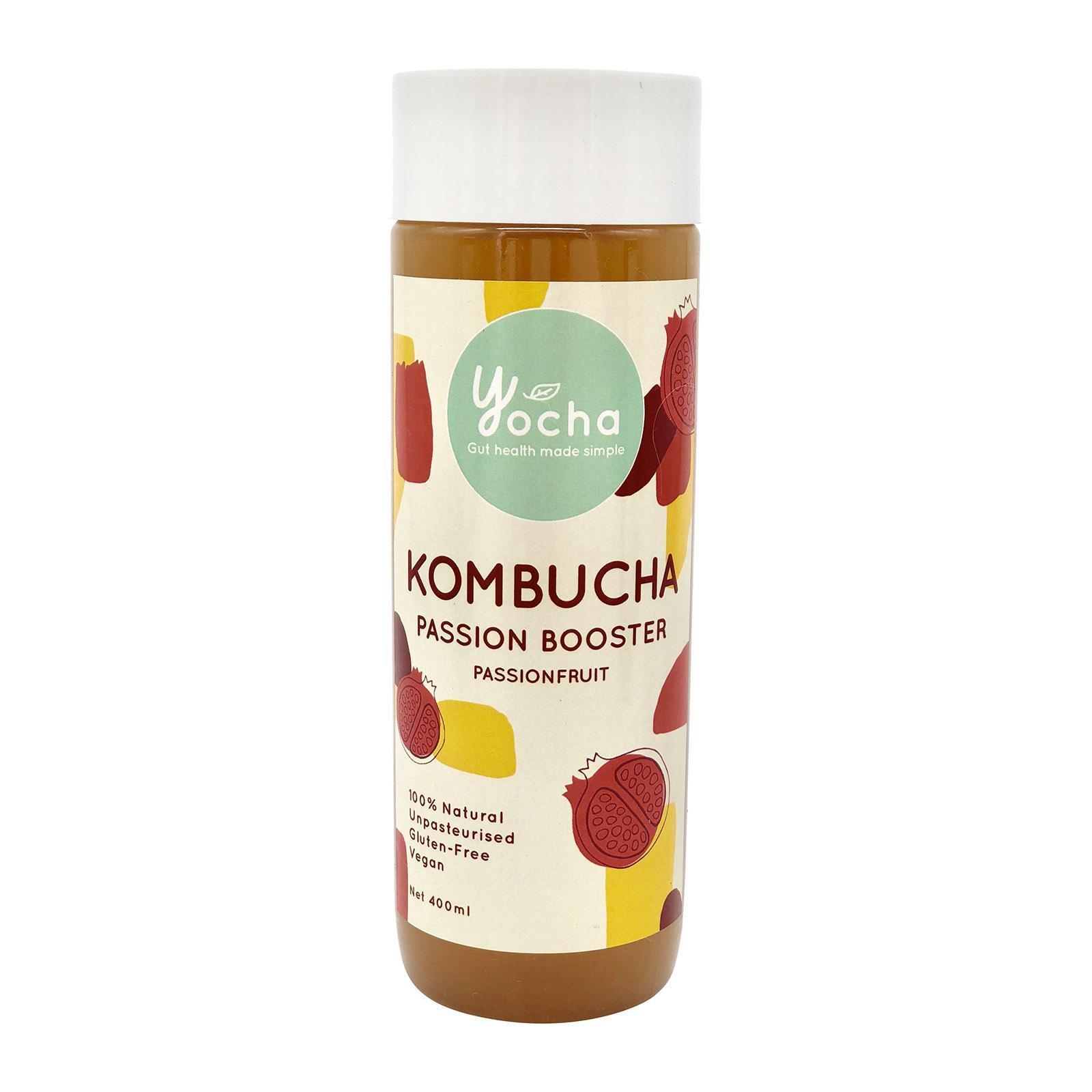 Yocha Kombucha Passion Booster - Passionfruit By Redmart.