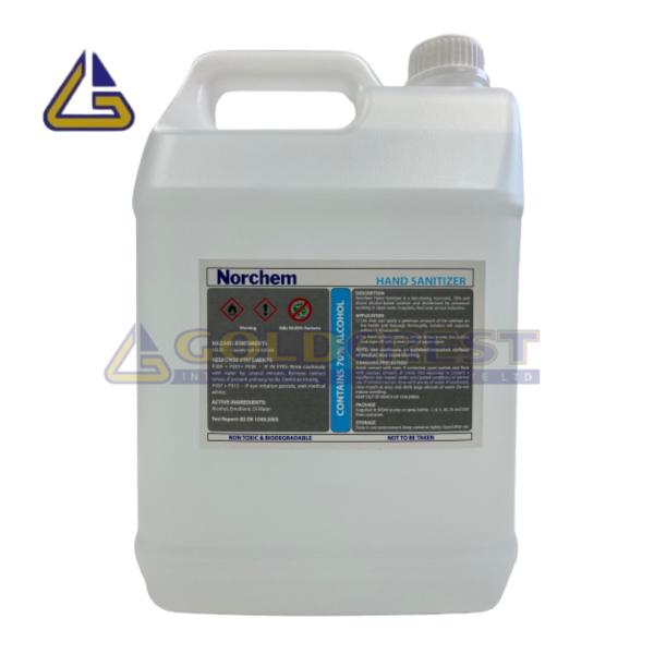 Buy Norchem Alcohol Hand Sanitizer (70% Isopropyl Alcohol) 5L Singapore