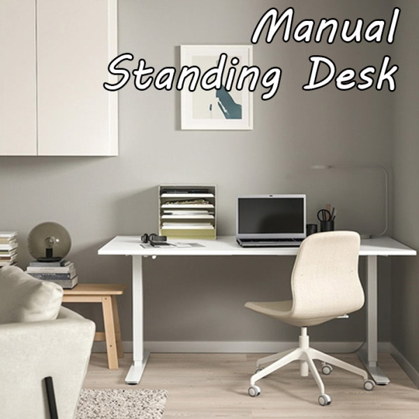 [Dekorea] Ready Stock Free Installation Electrical Standing Desk / Height Adjustable Desk / Sit Stand Home Office Table / Bamboo Desk Workstation / Bamboo Table / Automatic Desk / Study Table / Laptop Table / Computer Table