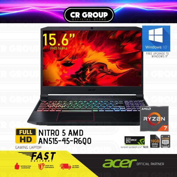 [Same Day Delivery] Acer Nitro 5 AMD AN515-45-R6Q0 15.6 Inch FHD Gaming Laptop | AMD Ryzen 7 5800H | 16GB DDR4 | 512GB PCIe SSD | NVIDIA GeForce GTX 1650