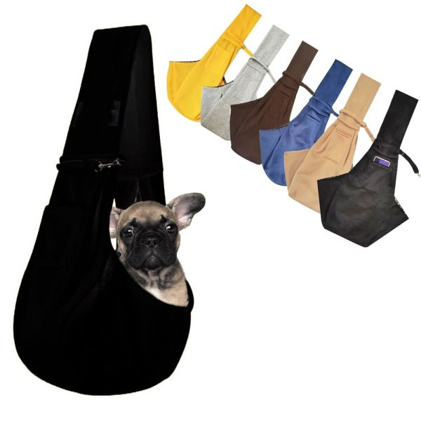 WENBA64 Dành cho chó và mèo nhỏ để đi du lịch ngoài trời Có thể đảo ngược Túi mềm Rảnh tay Thiết kế Tote Túi vận chuyển vật nuôi Cung cấp vật nuôi Túi thú cưng Balo thú cưng