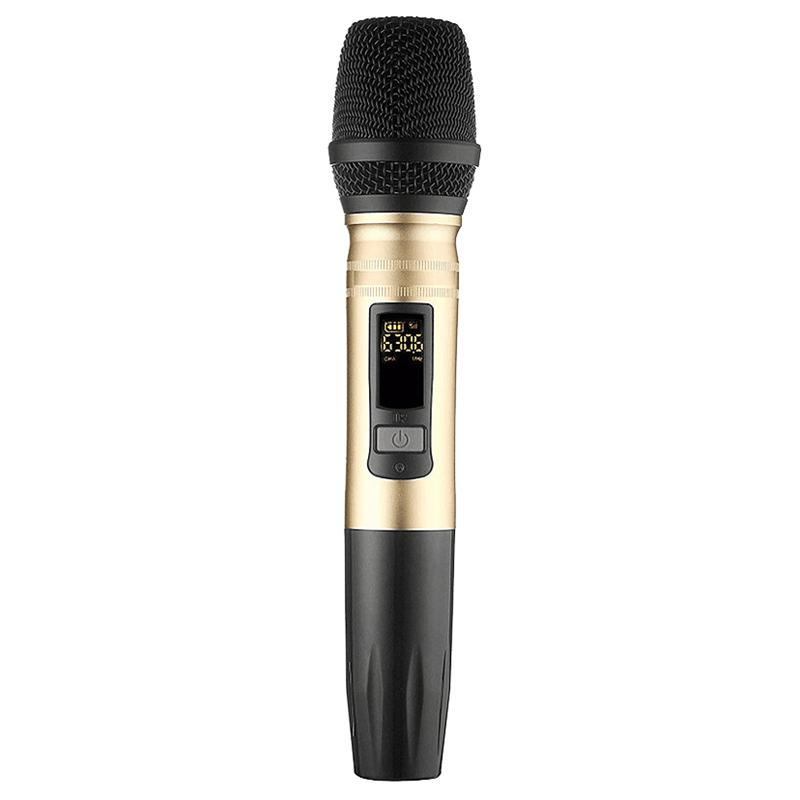 Ux2 Uhf Wireless Microphone System Handheld Led Mic Uhf Speaker With Portable Usb Receiver For Ktv Dj Speech Amplifier Recording Malaysia