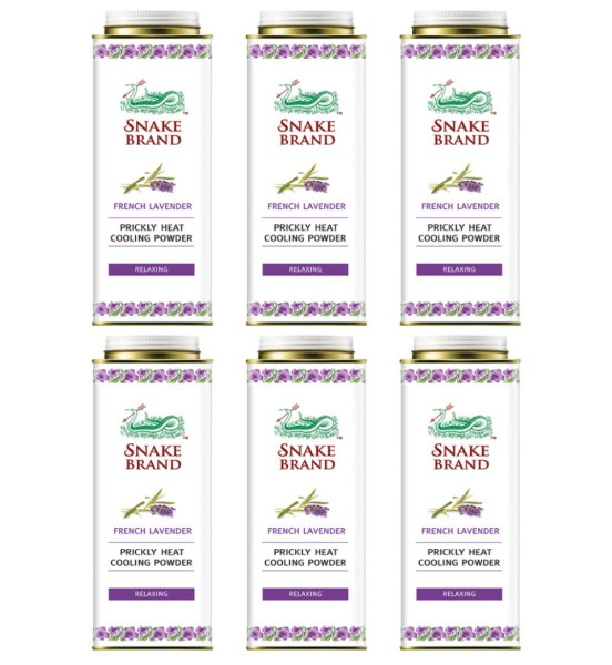 Buy (BUNDLE OF 6) ST LUKES SNAKE BRAND PRICKLY HEAT POWDER 280G (RELAXING LAVENDER) Singapore
