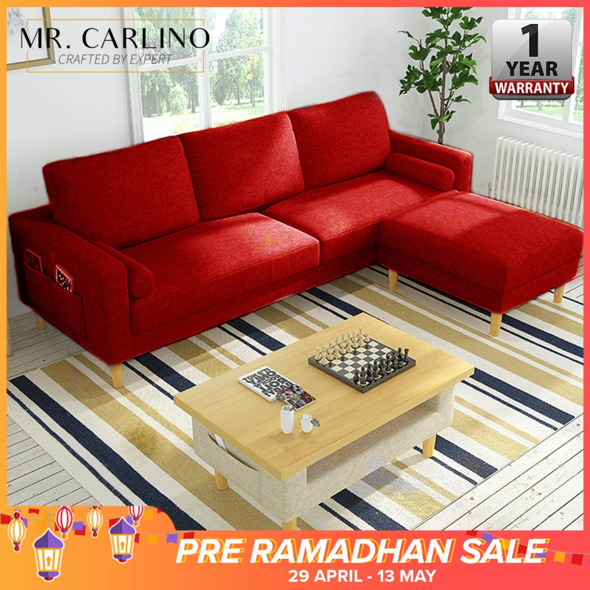 Vargas 3 Seater Canvas Cloth Home & Living Room L Shaped Sofa With [ 1 Year Warranty] By Casa Muebles.